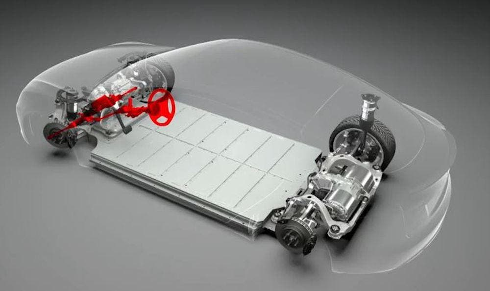 테슬라 모델 S 스케이트보드 플랫폼